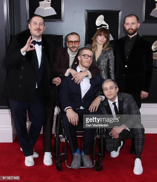 Portugal The Man arrives at the 60th Annual GRAMMY Awards at Madison Square Garden on January 28 2018 in New York City
