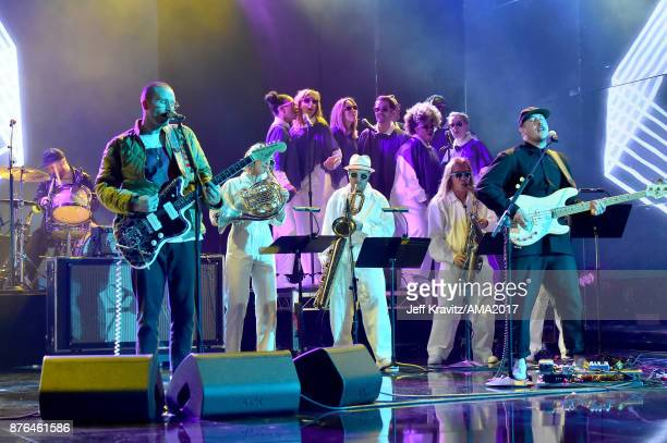 Portugal the Man onstage during the 2017 American Music Awards at Microsoft Theater on November 19 2017 in Los Angeles California