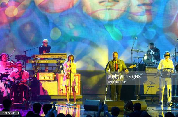 Portugal The Man perform onstage during the 2017 American Music Awards held at Microsoft Theater on November 19 2017 in Los Angeles California