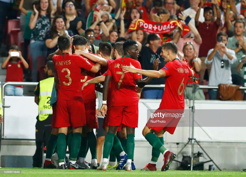 Hasil gambar untuk portugal vs italy uefa nations league