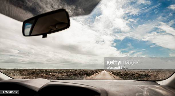 Portugal, View of road through car windscreen