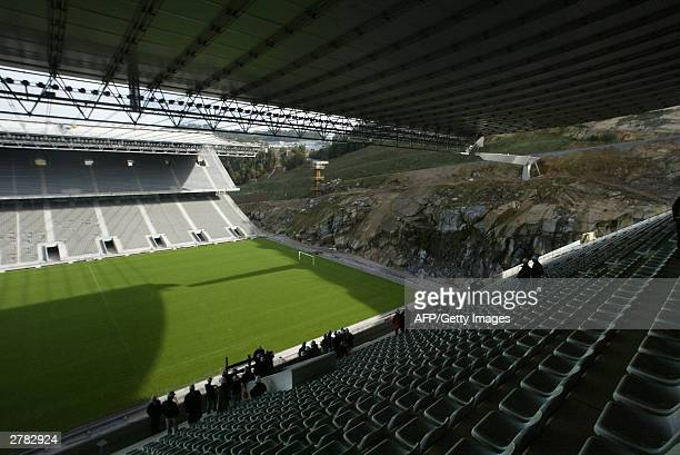 View taken 02 December 2003 of the Estadio Municipal in Braga The stadium will host up to 30000 football fans during two games of the first round of...