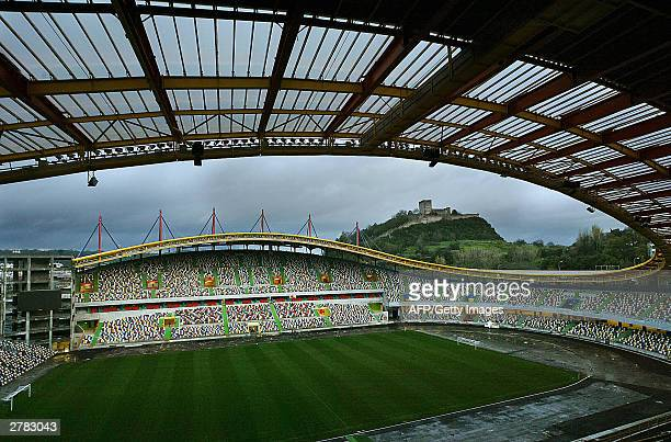View taken 03 December 2003 of the Estadio Dr Magalhaes Pessoa in Leiria The stadium will host 30000 football fans during two games of the first...