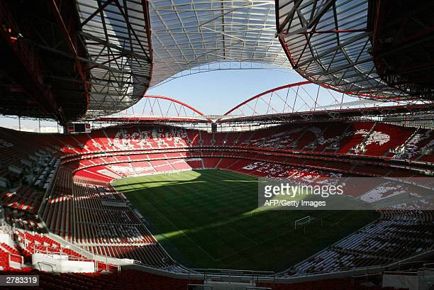 View taken 04 December 2003 of the Estadio Da Luz in Lisbon The stadium will host 65000 football fans during three games of the first round of the...