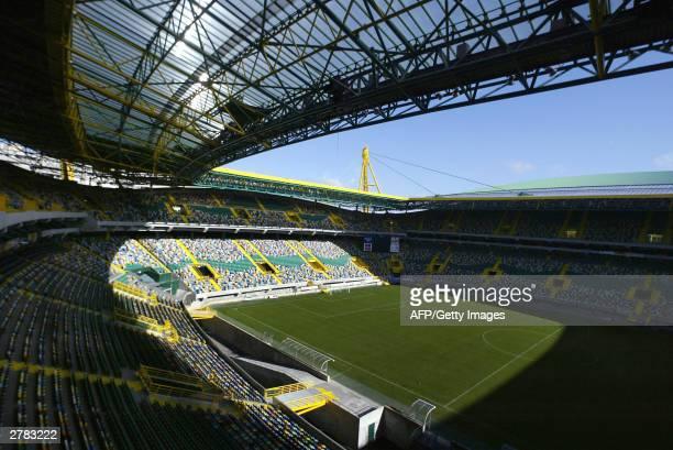 View taken 04 December 2003 of the Estadio Jose de Alvalade in Lisbon the stadium of the Sporting Lisbon football club The stadium will host 52000...