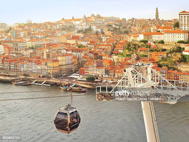 Portugal, Vila Nova da Gaia, Cable railway and Cais do Ribeira