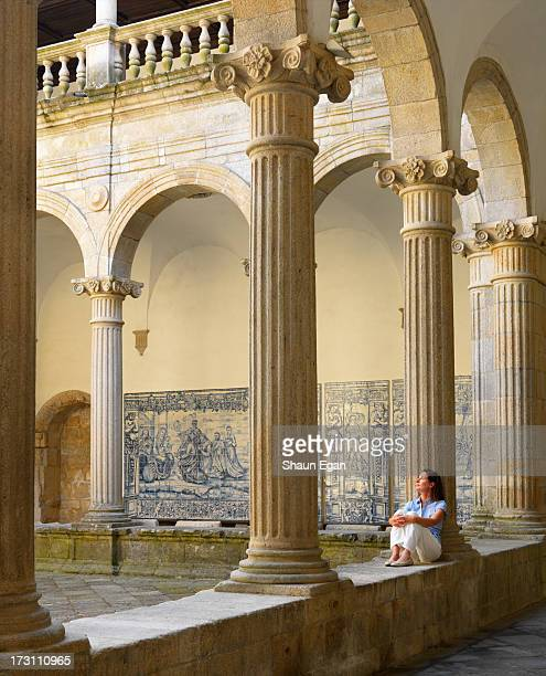 portugal, viseu, viseu cathedral, cloisters - cloister stock pictures, royalty-free photos & images