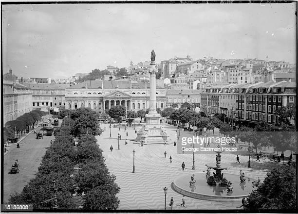 Portugal vue de la place Dom Pedro -Lisbonne, between 1900 and 1919.