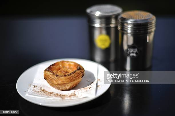 PortugalgastronomyfinancepublicdebtFEATURE In a picture taken on August 10 a 'Pastel de nata' Lisbon's typical pastry is pictured at the Nata's Cafe...