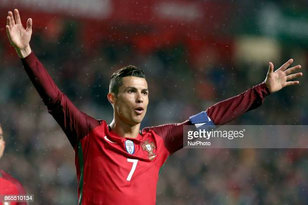 Portugal's and Real Madrid's forward Cristiano Ronaldo is the winner of The Best FIFA Mens Player 2017 award at a ceremony in London on October 23...