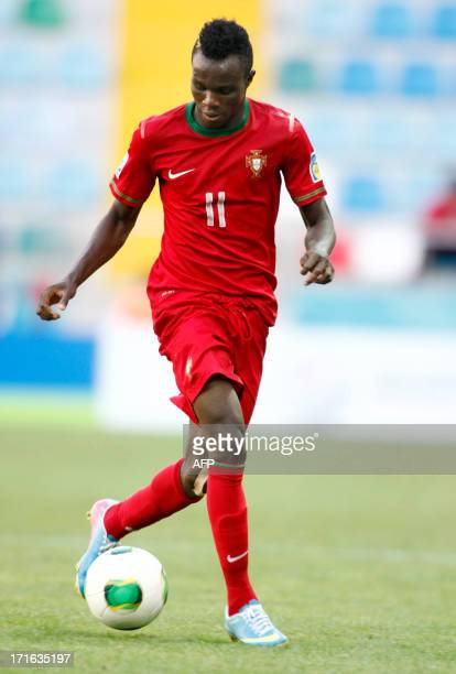Portugal's Bruma controls the ball during a group stage football match between Portugal and Cuba at the FIFA Under 20 World Cup at Kadir Has stadium...