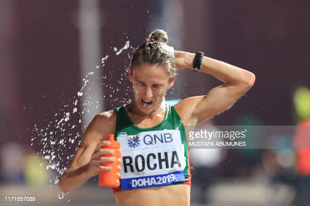 Portugal's Carla Salome Rocha competes in the Women's Marathon at the 2019 IAAF World Athletics Championships in Doha on September 27 2019