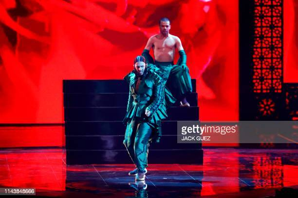 Portugal's Conan Osiris performs the song Telemóveis during the first semifinal of the 64th edition of the Eurovision Song Contest 2019 at Expo Tel...