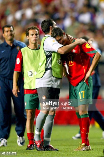 Portugal's Cristiano Ronaldo cries at the final whistle