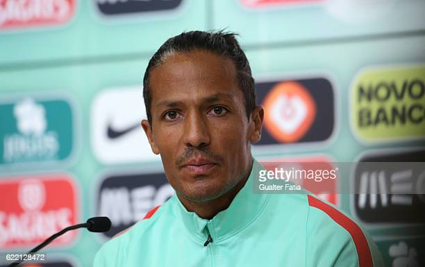 PortugalÕs defender Bruno Alves during Portugal's National Team Press Conference before the 2018 FIFA World Cup Qualifiers matches against Latvia at...