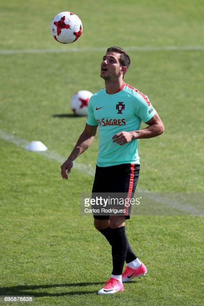 Portugal's defender Cedric Soares during Portugal Training Session and Press Conference for the Confederations Cup 2017 at Cidade do Futebol on June...