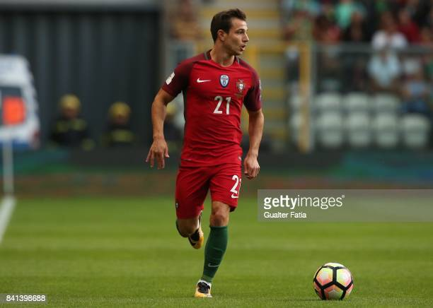 Portugal's defender Cedric Soares in action during the FIFA 2018 World Cup Qualifier match between Portugal and Faroe Islands at Estadio do Bessa on...