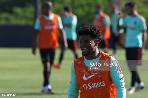 Portugals defender Eliseu in action during National Team Training session before the match between Portugal and Andorra at City Football in Oeiras...