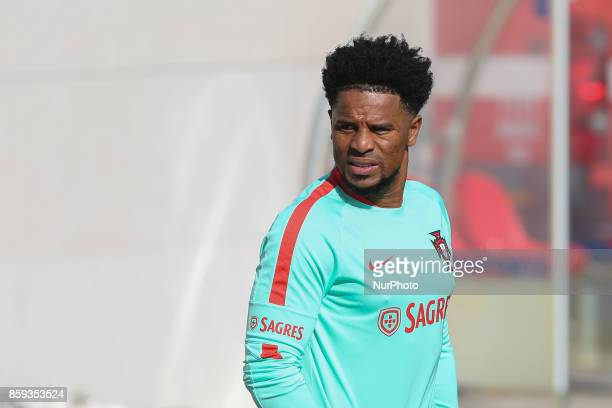 Portugals defender Eliseu in action during National Team Training session before the match between Portugal and Switzerland at City Football in...