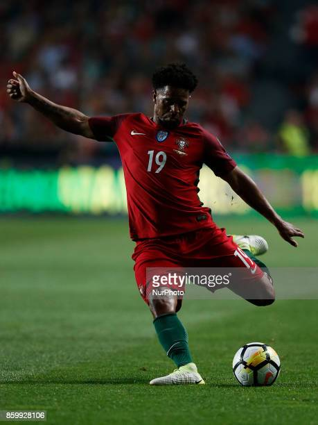 Portugal's defender Eliseu in action during the FIFA World Cup WC 2018 football qualifier match between Portugal and Switzerland in Lisbon on October...