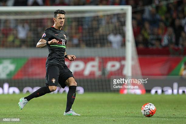 Portugal's defender Jose Fonte during the Friendly match between Portugal and France on September 04 2015 in Lisbon Portugal