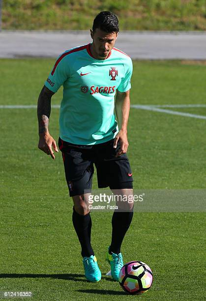 Portugal's defender Jose Fonte in action during Portugal's National Team Training session before the 2018 FIFA World Cup Qualifiers matches against...