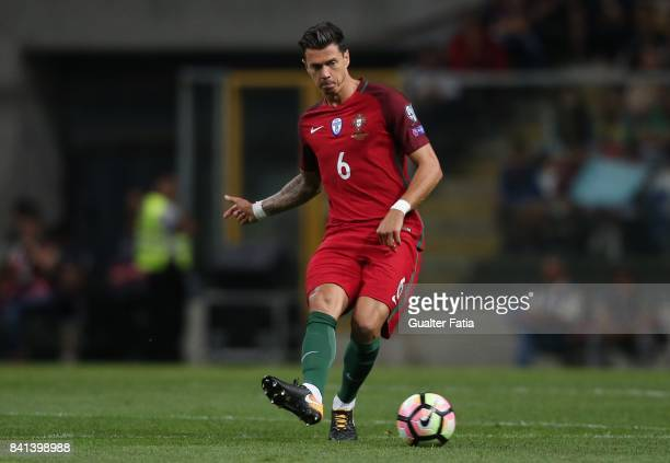 Portugal's defender Jose Fonte in action during the FIFA 2018 World Cup Qualifier match between Portugal and Faroe Islands at Estadio do Bessa on...