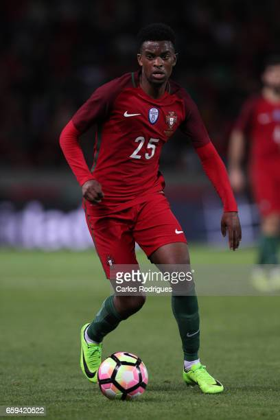 Portugal's defender Nelson Semedo during the match between Portugal v Sweden International Friendly at Estadio dos Barreiros on March 28 2017 in...