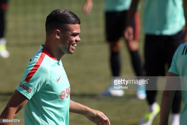 Portugal's defender Pepe during a training session at quotCidade do Futebolquot training camp in Oeiras outskirts of Lisbon on June 7 ahead of the...
