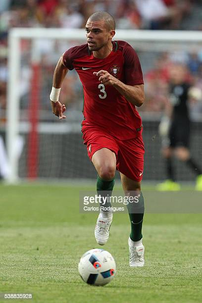 Portugal's defender Pepe during the International Friendly match between Portugal and Estonia in preparation for Euro 2016 at Estadio da Luz on June...