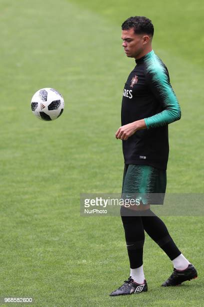 Portugal's defender Pepe in action during a training session at the Luz stadium in Lisbon Portugal on June 6 on the eve of the FIFA World Cup Russia...