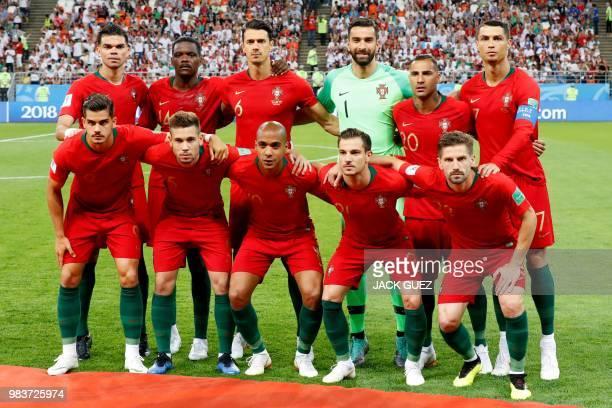 Portugal's defender Pepe Portugal's midfielder William Carvalho Portugal's defender Jose Fonte Portugal's goalkeeper Rui Patricio Portugal's forward...