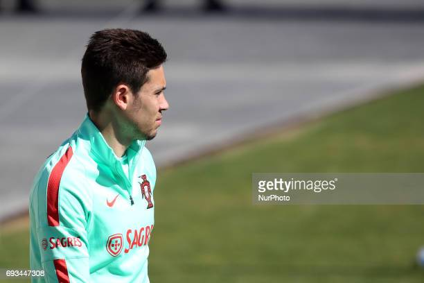 Portugal's defender Raphael Guerreiro during a training session at quotCidade do Futebolquot training camp in Oeiras outskirts of Lisbon on June 7...