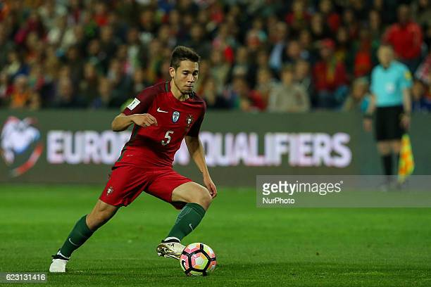 Portugals defender Raphael Guerreiro during the 2018 FIFA World Cup Qualifiers matches between Portugal and Latvia in Municipal Algarve Stadium on...
