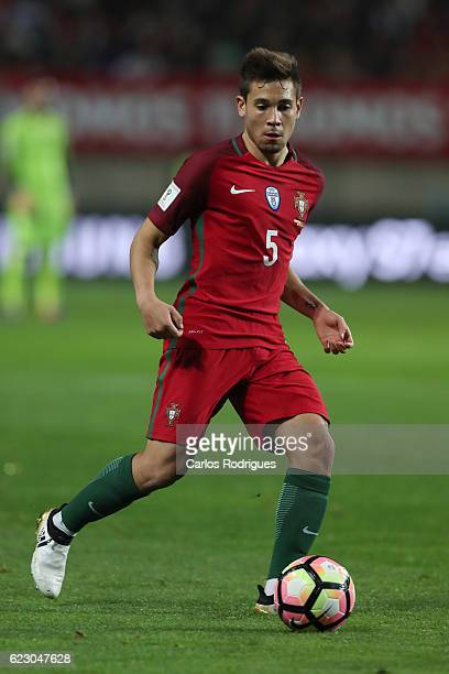 Portugal's defender Raphael Guerreiro from Portugal during the Portugal v Latvia FIFA 2018 World Cup Qualifier match at Estadio do Algarve on...