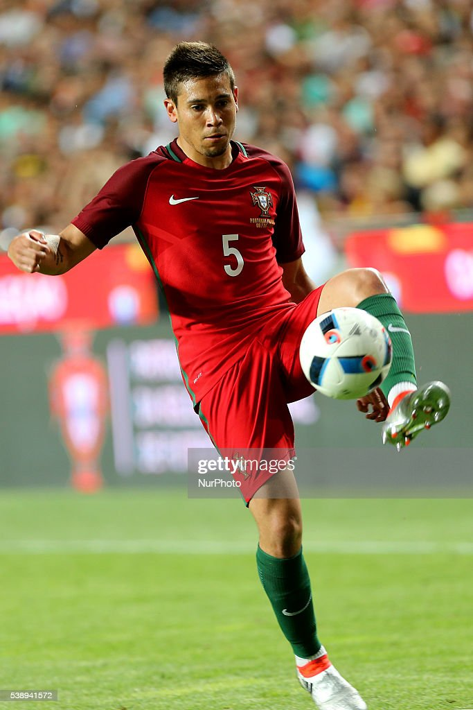Portugals defender Raphael Guerreiro in action during international friendly match between Portugal and Estonia in preparation for the Euro 2016 at Estadio da Luz on June 8, 2016 in Lisbon, Portugal.