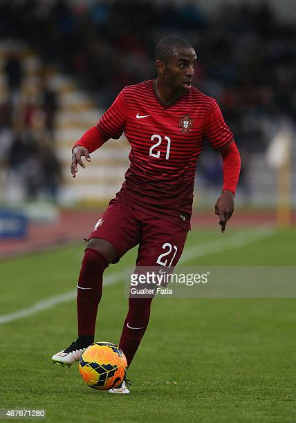 Portugal's defender Ricardo Pereira in action during the U21 International Friendly between Portugal and Denmark on March 26 2015 in Marinha Grande...