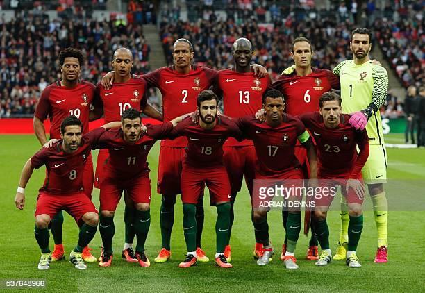 Portugal's Eliseu Portugal's attacker Joao Eduardo Portugal's defender Bruno Alves Portugal's Danilo Portugal's defender Ricardo Carvalho Portugal's...