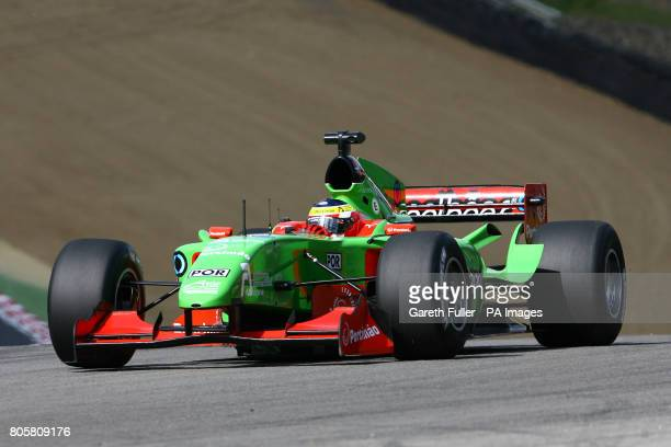 Portugal's Filipe Albuquerque during qualifying for the British A1GP at Brands Hatch Kent