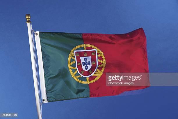 portugal's flag - bandeira de portugal imagens e fotografias de stock