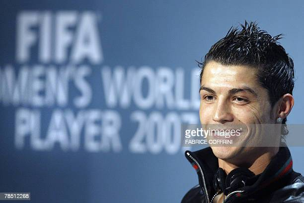 Portugal's football player Cristiano Ronaldo smiles during a press conference prior to the FIFA World Player Gala 2007 award ceremony 17 December...