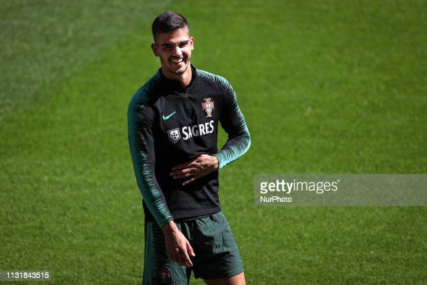 Portugal's forward Andr Silva during a training session at Luz stadium in Lisbon Portugal 21 March 2019 ahead of the Euro 2020 qualifying football...
