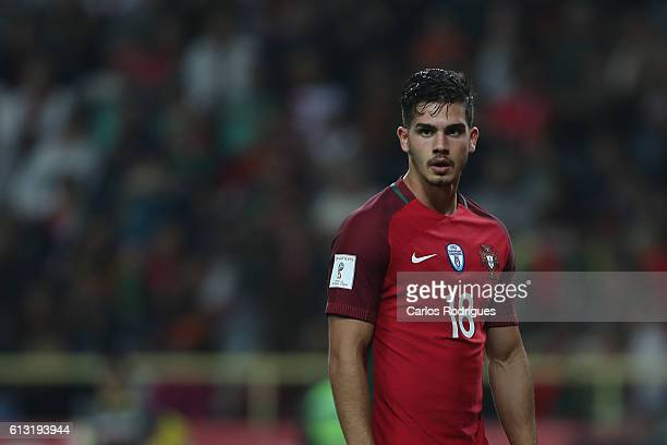 Portugal's forward Andre Silva during Portugal v Andorra FIFA 2018 World Cup Qualifier at Estadio Municipal de Aveiro on October 07 2016 in Aveiro...