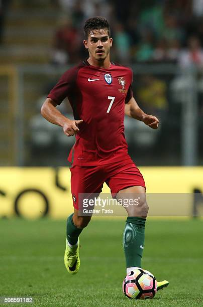 Portugal's forward Andre Silva in action during the International Friendly match between Portugal and Gibraltar at Estadio do Bessa on September 1...