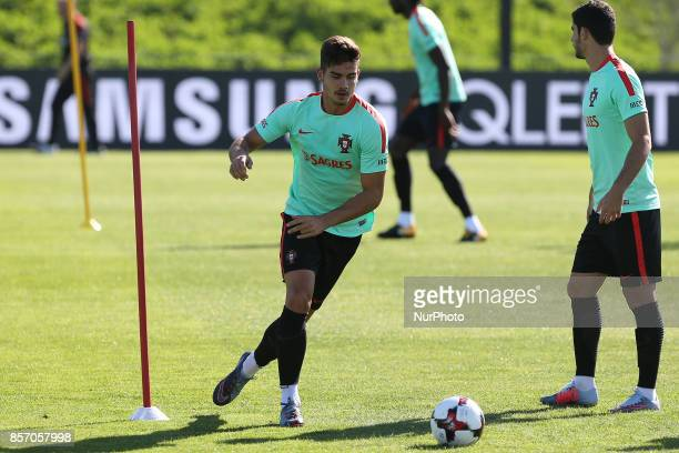 Portugal's forward Andre Silva in action during the National Team Training session before the match between Portugal and Andorra at City Football in...