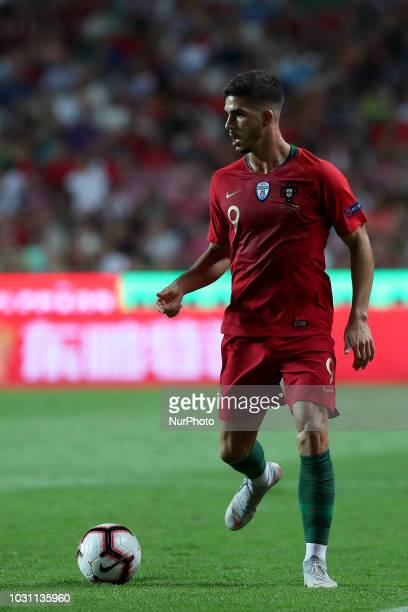 Portugal's forward Andre Silva in action during the UEFA Nations League A group 3 football match Portugal vs Italy at the Luz stadium in Lisbon...