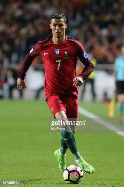 Portugals forward Cristiano Ronaldo during Portugal v Hungary FIFA 2018 World Cup Qualifier at Estadio da Luz on March 25 2017 in Lisbon Portugal