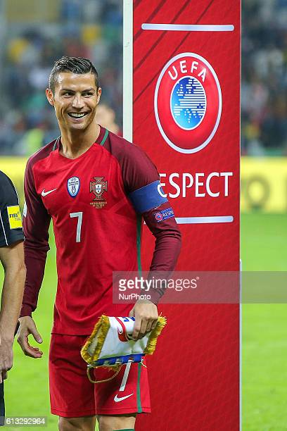 Portugals forward Cristiano Ronaldo during the 2018 FIFA World Cup Qualifiers matches between Portugal and Andorra in Municipal de Aveiro Stadium on...