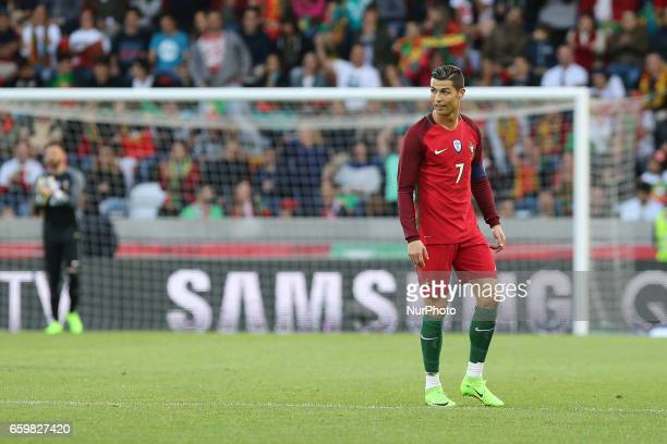 Portugals forward Cristiano Ronaldo during the FIFA 2018 World Cup friendly match between Portugal v Sweden at Estadio dos Barreiros on March 28 2017...