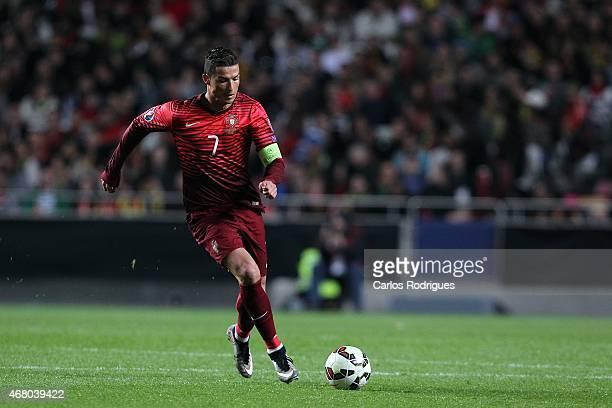 Portugal's forward Cristiano Ronaldo during the UEFA Euro 2016 Qualifier between Portugal and Serbia at Estadio da Luz on March 29 2015 in Lisbon...